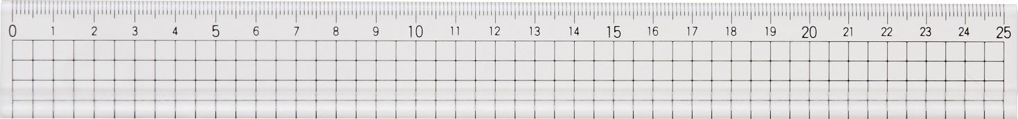 アクリル方眼25cm定規