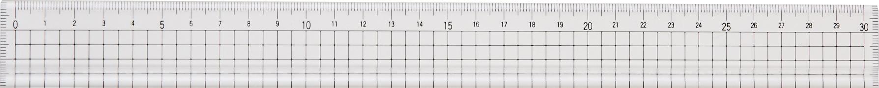 アクリル方眼30cm定規