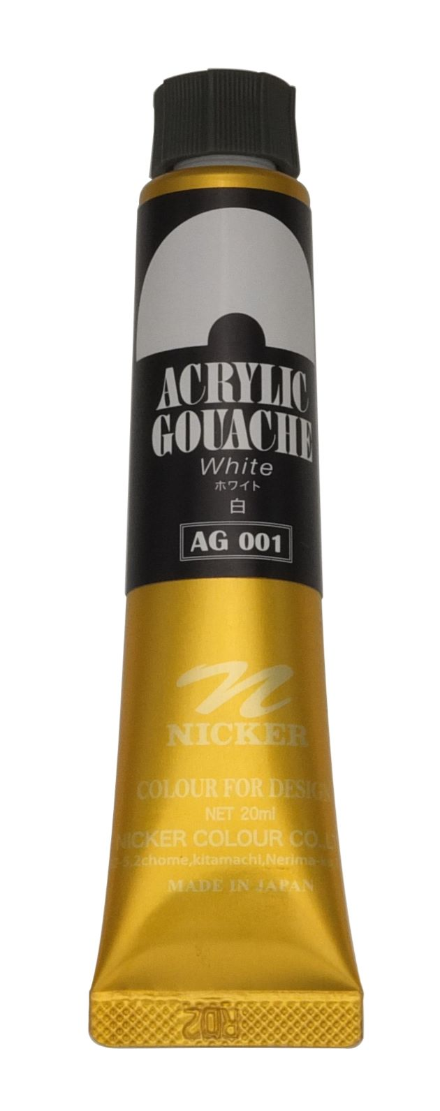 ACRYLIC GOUACHE 20ml AG001 WHITE