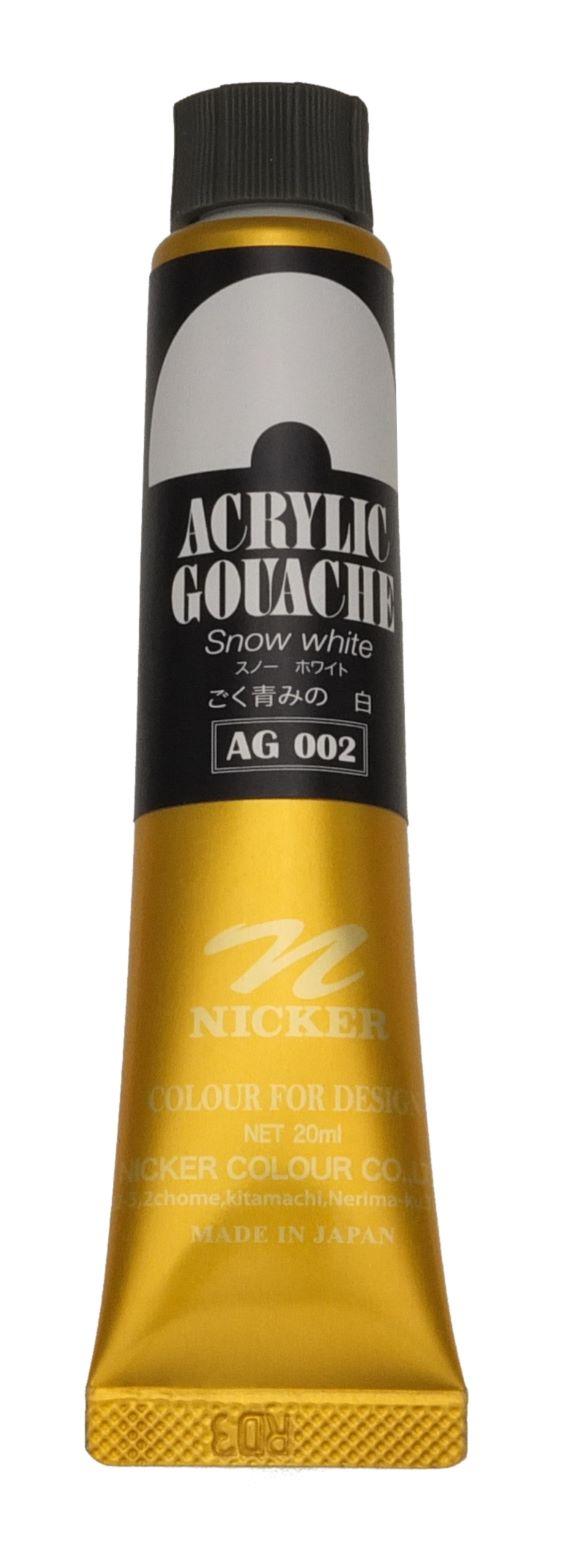 <Discontinued> ACRYLIC GOUACHE 20ml AG002 SNOW WHITE