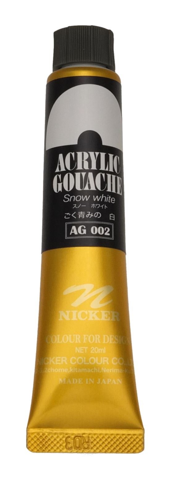 ACRYLIC GOUACHE 20ml AG002 SNOW WHITE