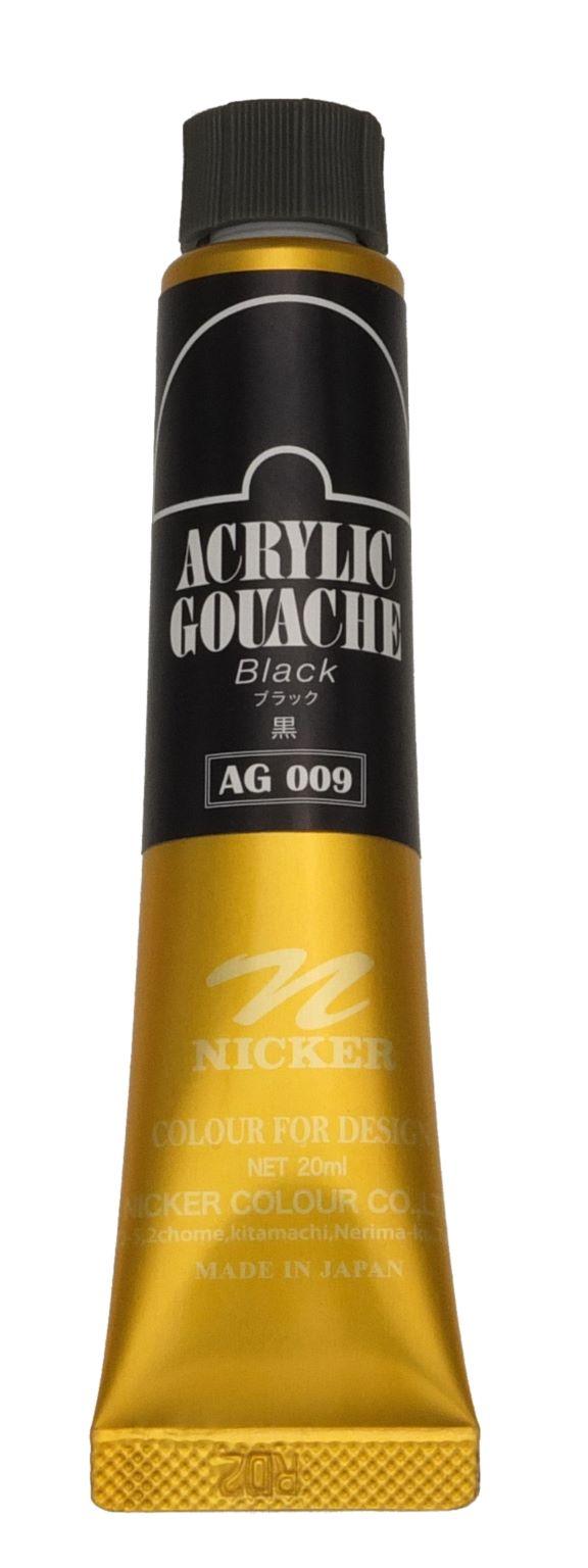 ACRYLIC GOUACHE 20ml AG009 BLACK