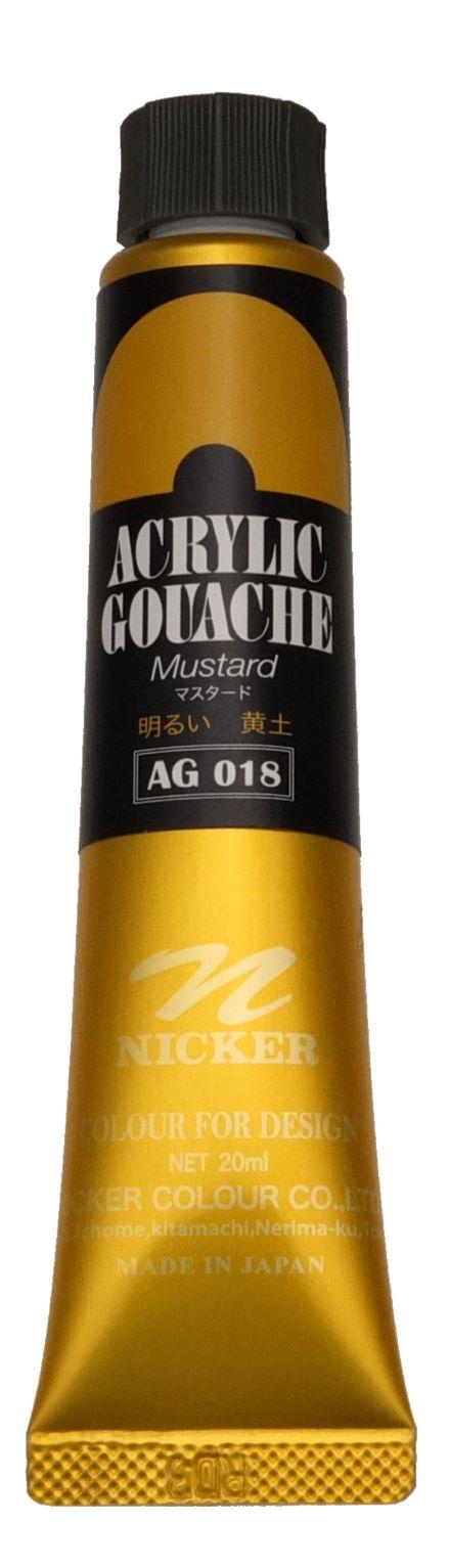 ACRYLIC GOUACHE 20ml AG018 MUSTARD