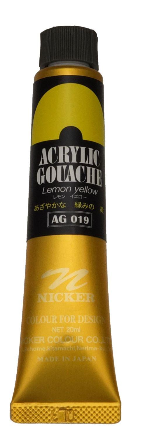 ACRYLIC GOUACHE 20ml AG019 LEMON YELLOW