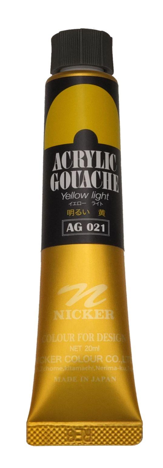 ACRYLIC GOUACHE 20ml AG021 YELLOW LIGHT