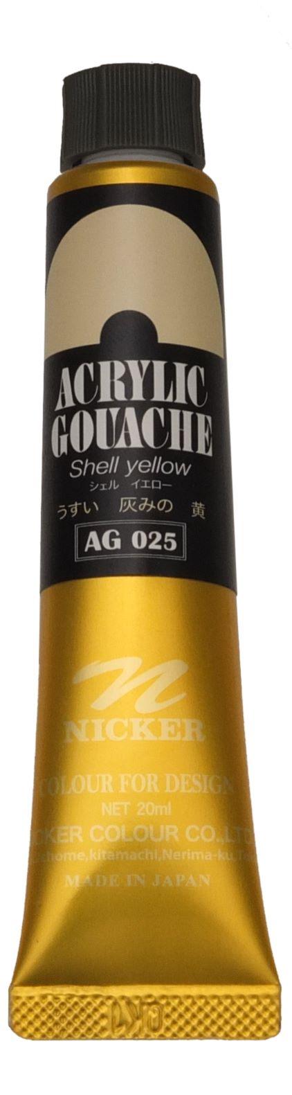 ACRYLIC GOUACHE 20ml AG025 SHELL YELLOW