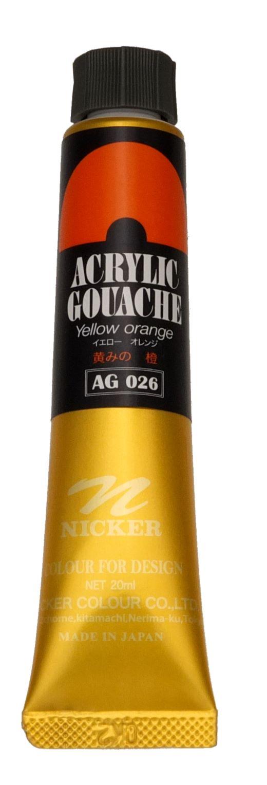 ACRYLIC GOUACHE 20ml AG026 YELLOW ORANGE