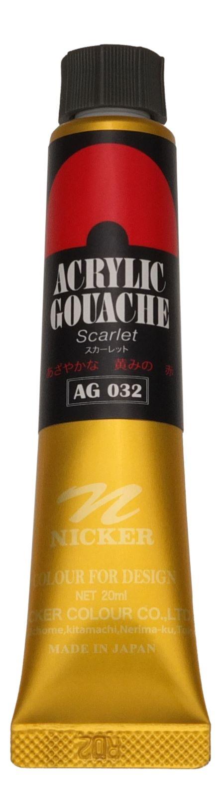ACRYLIC GOUACHE 20ml AG032 SCARLET