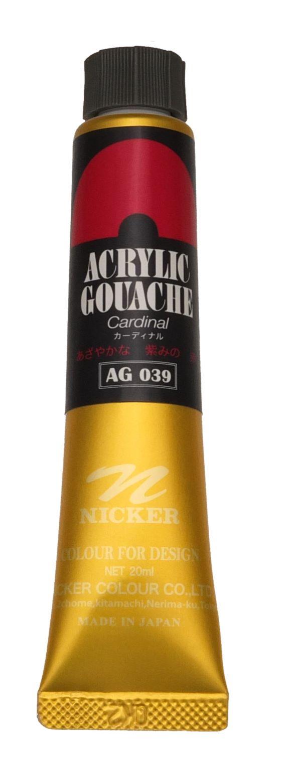 ACRYLIC GOUACHE 20ml AG039 CARDINAL