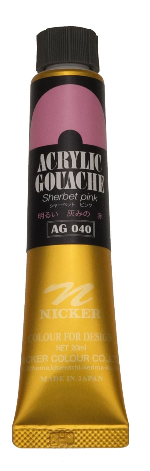 <Discontinued> ACRYLIC GOUACHE 20ml AG040 SHERBET PINK