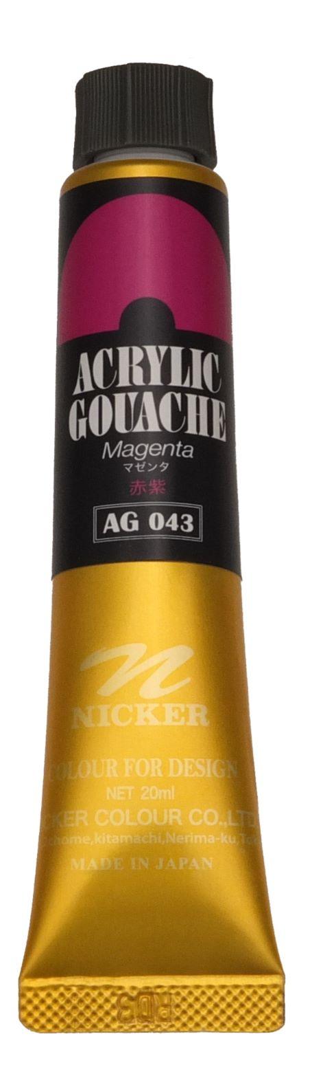 ACRYLIC GOUACHE 20ml AG043 MAGENTA