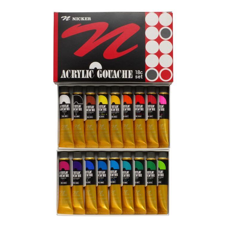 ACRYIC GOUACHE 20ml 18color set