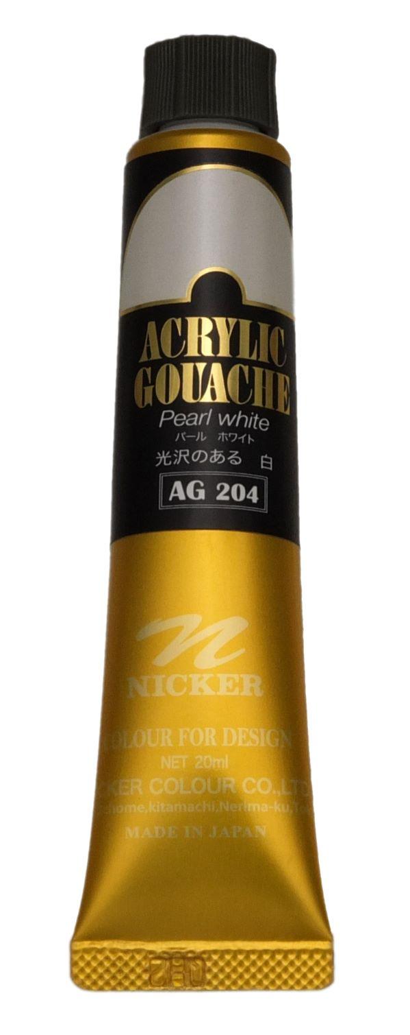 ACRYLIC GOUACHE 20ml AG204 PEARL WHITE