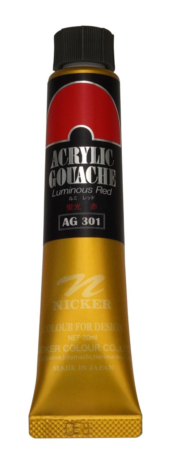 <Discontinued> ACRYLIC GOUACHE 20ml AG301 LUMINOUS RED