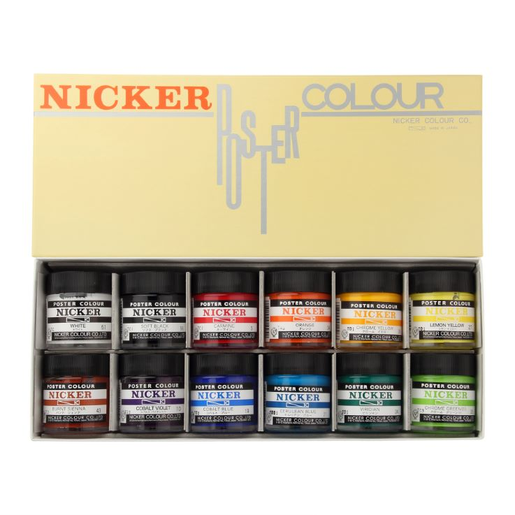 POSTER COLOUR 40ml 12color set
