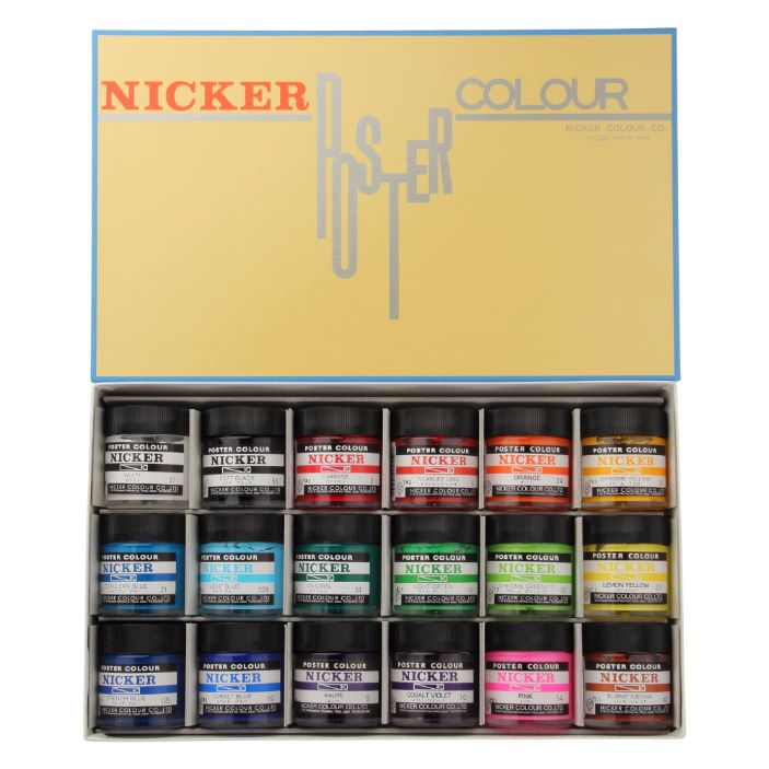 POSTER COLOUR 40ml 18color set