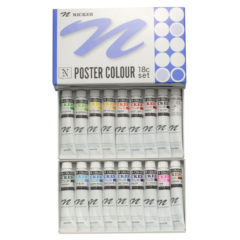 POSTER COLOUR 20ml 18color set