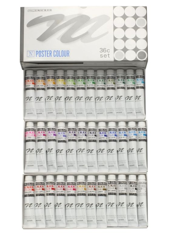 POSTER COLOUR 20ml 36color set