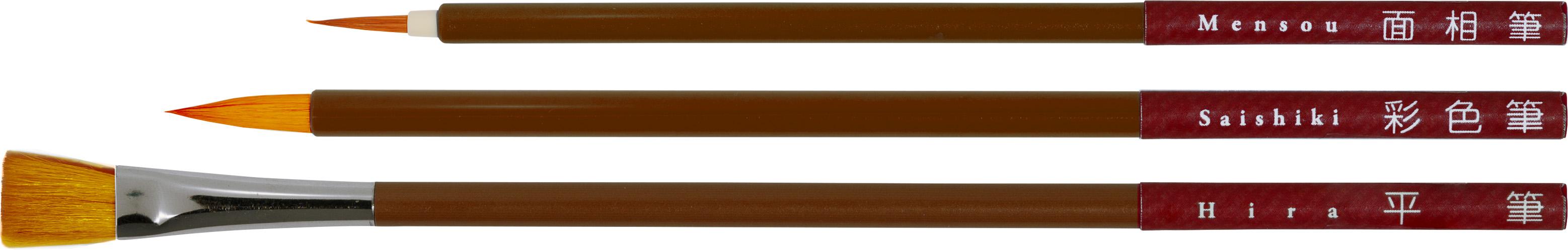 ニッカーナイロン筆3本組